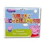 CAPRILO Lote de 2 Guirnaldas Decorativos Infantiles Peppa Pig Feliz...