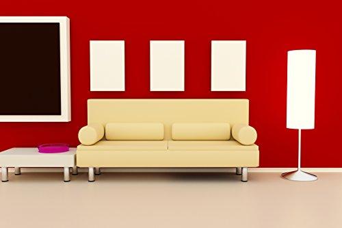 Verre Télécommande Chauffage infrarouge 450 W 70 x 60 cm avec montage mural 98% la chaleur Efficacité 100.00std Durée de vie garantie 2 ans, blanc, 450 Watt