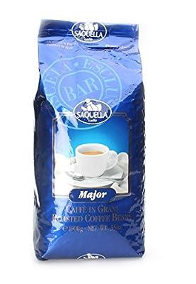"Saquella Espresso ""Major"" Slow Roasted Gourmet Italian Espresso Coffee Beans 1Kg bag"