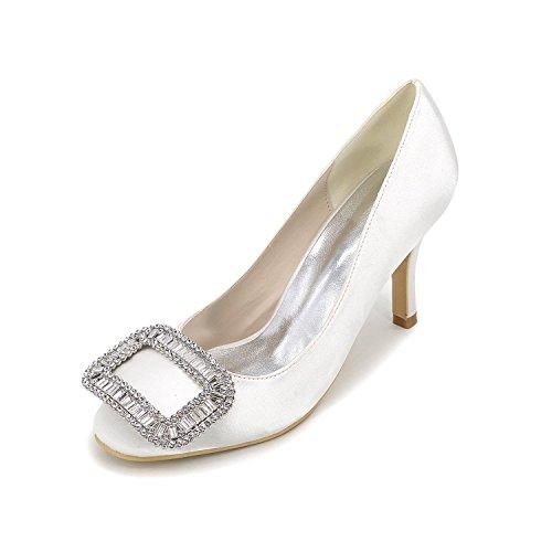 L@YC Scarpe Donna Stiletto Heel Pointed Toe Pompe / Tacchi Matrimonio / Party & Sera / Blu / Rosso / Bianco / argento / Viola White