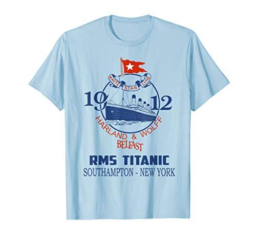 Titanic Vintage Cruise Ship Atlantic Voyage Ocean Queen T-Shirt