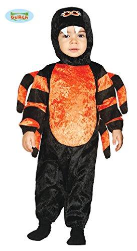 Kinder Unisex Baby Spinnen Kostüm mit Jumpsuit, Mütze - Gr. 12-24 (24 Kostüm Monats Baby)