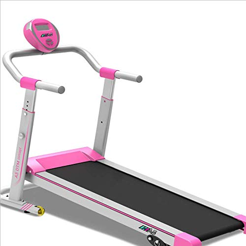 FANWEIWEI Macchina Tapis roulant Cross-Border Muto Pieghevole Mini Walker Fitness Equipment Home Tapis roulant,Pink