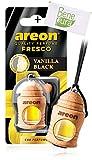 AREON Ambientador Perfume Fresco 4 ML - Vainilla Black Scent - Difusor de Botellas Colgante con Cubierta de Madera Natural, Larga duración