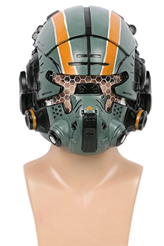 Deluxe Grün Harz Glühen Augen Maske Spiel Verrücktes Kleid Replik für Herren Halloween Party Zubehör (Halloween-verrückten Augen)