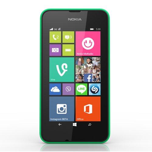 Nokia Lumia 530 Smartphone, 4 GB, Verde [Italia]
