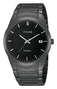 Pulsar Uhren Modern PS9141X1 - Reloj analógico de cuarzo para hombre, correa de acero inoxidable chapado color negro de Pulsar Uhren