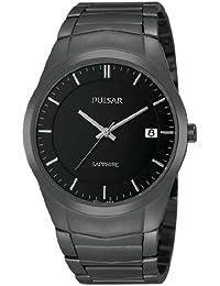 Pulsar Uhren Modern PS9141X1 - Reloj analógico de cuarzo para hombre, correa de acero inoxidable chapado color negro