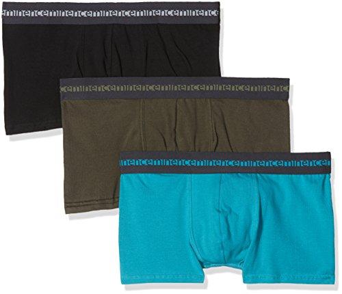 Eminence Herren Badehose Morpho Adjust, 3er Pack Multicolore (Turquoise/Kaki/Noir 0830)