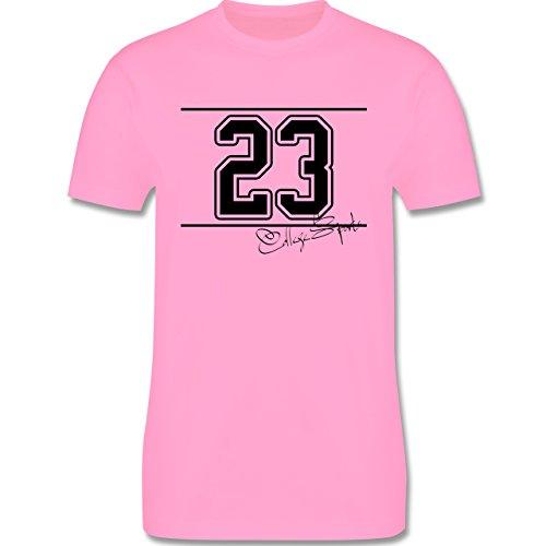 Basketball - College Sports Zahl Oldschool - Herren Premium T-Shirt Rosa