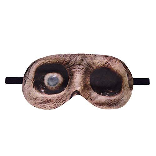 BIEE Augen Schlafmaske Kinder Erwachsene Reisemaske Abdeckung (Wolf Augen Make-up Halloween)