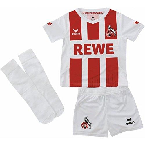 Erima 1. FC Köln Minikit Home 2017/2018 Kleinkinder 104 (Neues Socken Logo)