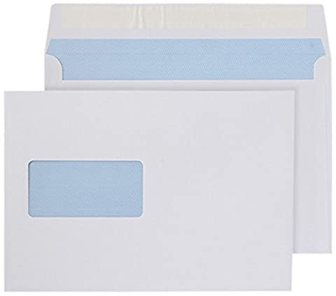 Purely Everyday C5 162 x 229 mm Wallet Peel and Seal Window Envelope - White (Pack of 500)