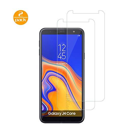 [2 Pack] Für Samsung Galaxy J4 Core Panzerglas Schutzfolie (Transparent), Bildschirmschutzglas Panzerfolie für Samsung Galaxy J4 Core Schutzglas Folie [Ultra-klar] [9H Härte] [Kristallklar] [Bubble Free]