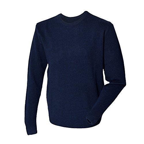 Henbury - Pullover 100% laine d'agneau - Homme Bleu Marine