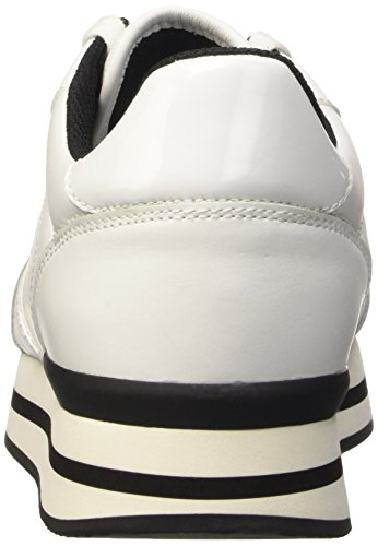 Trussardi Jeans 79s04449, Baskets Femme Blanc Cassé (01 Bianco)