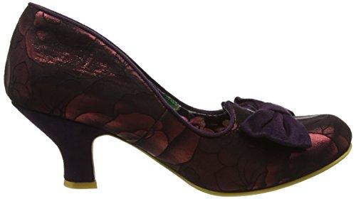 Irregular ChoiceDazzle Razzle - Scarpe con Tacco Donna Red (Burgundy)