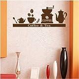 Kaffee Oder Tee Café-Schaufenster Geschnitzte Aufkleber 42X96Cm