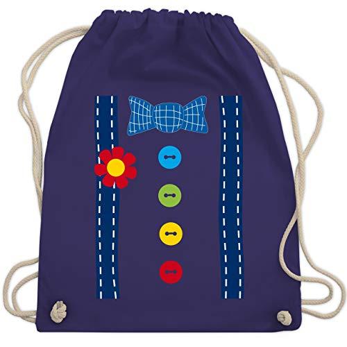 Karneval & Fasching - Clown Kostüm blau - Unisize - Lila - WM110 - Turnbeutel & Gym Bag