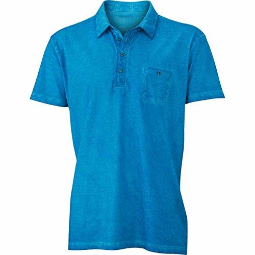 JAMES & NICHOLSON Herren Poloshirt, Einfarbig Türkisblau