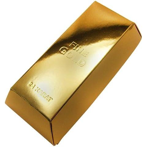 Viba - Barra de chocolate con forma de lingote de oro - 310 g