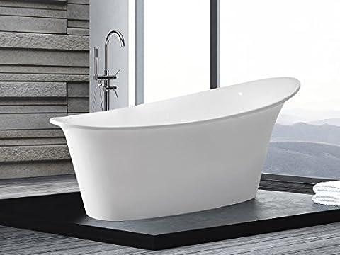 Freistehende Badewanne Haiti 175 x 90 cm ovale Acryl Wanne