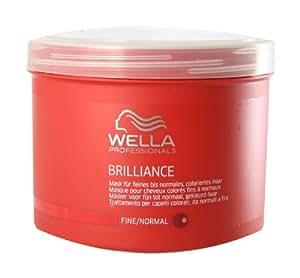 Wella Professionals - Masque pour Cheveux Colorés et Fins - Soin et Brillance - Brilliance Treatment Mask - 150ml