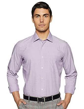Van Heusen Men's Solid Slim fit Formal Shirt (VHSFBSLPG73239_Purple_44)