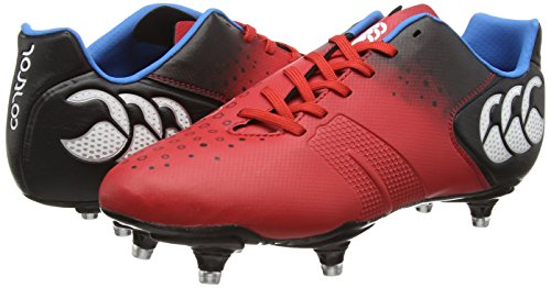 Canterbury Control Club 6 Stud, Chaussures de Rugby homme Rouge (438)