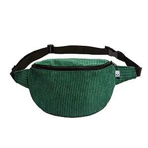 Bauchtasche, Cord breit Tannengrün, Hip bag, Umhängetasche, fanny pack, belt bag, shoulder bag,