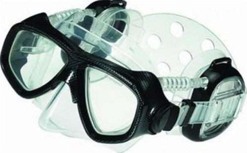 Pro Ear Scuba Diving Mask for all around Ear Protection Dive Diver Divers Snorkel Snorkeling Mask Authorized Dealer Full Warranty by IST