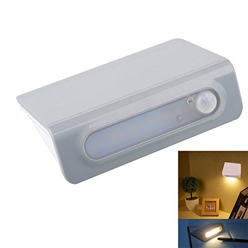 Ryham Stick-LED-Bewegungs-Sensor-Licht-Batterie betrieben Bewegungsaktivierte , 5 LED, 3 Meter Detektor-Abstand, 30 Sekunden Auto On / Off für Indoor Flur Treppe Startseite Silber