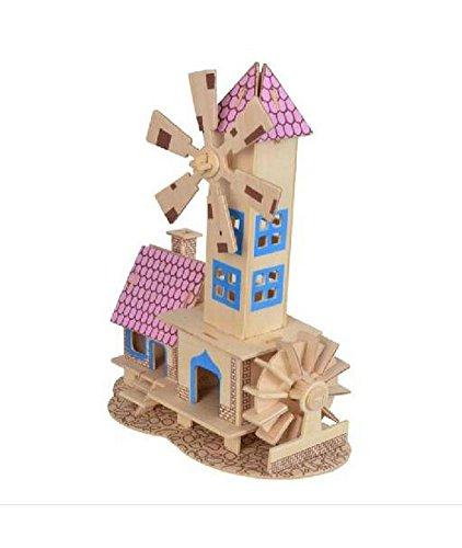 Das Märchenhaus Dreidimensionale Gebäude Des Manuelle Montage Holzmodell