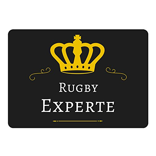 Mousepad Rugby Experte schwarz -