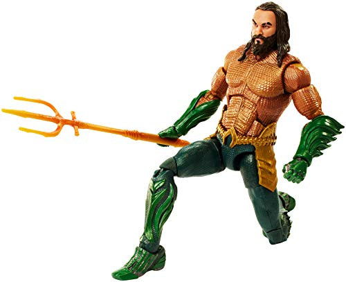 Mattel GmbH fxg86DC Aquaman Multiverse Collector Figura en Kings Armor, joven, 15cm