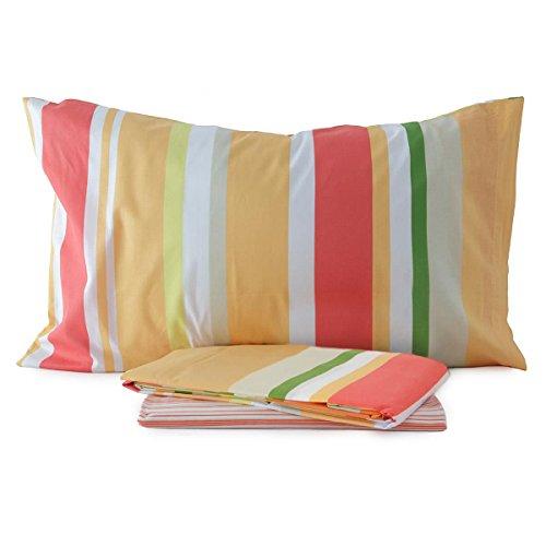 Completo lenzuola Bernon Bassetti Time in cotone Una piazza e mezza N191 GIALLO