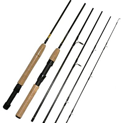 7.5ft, 5pc Carbon Fly / Spinning Travel Rod (Convertible) Travel Fishing rod. from NGT