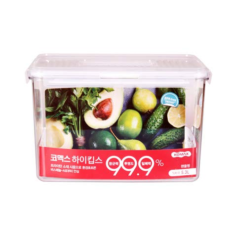 KOMAX HIKIPS RH32 (5.3Lt) TRITAN BPA Free Container | Safe Hygienic Airtight Clear Food Storage Container | Microwave Dishwasher Freezer Safe |