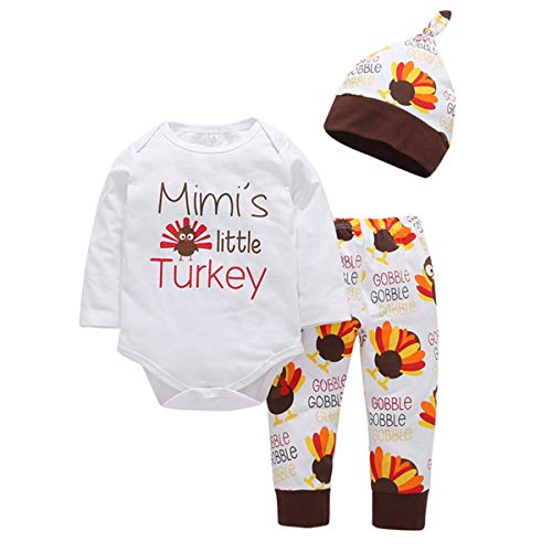 y wenig Türkei Romper + Pants + Hat Party Casual Kleidung Anzug (Size : 90) ()