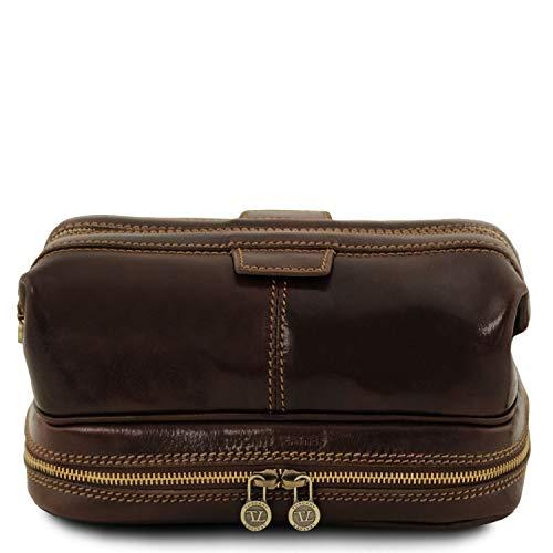 Tuscany Leather Patrick Beauty case in pelle Testa di Moro