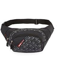 yssabout negro multifunción bolsillos deportes al aire libre bolsa bolsa de pecho bolsa de nylon para senderismo montañismo