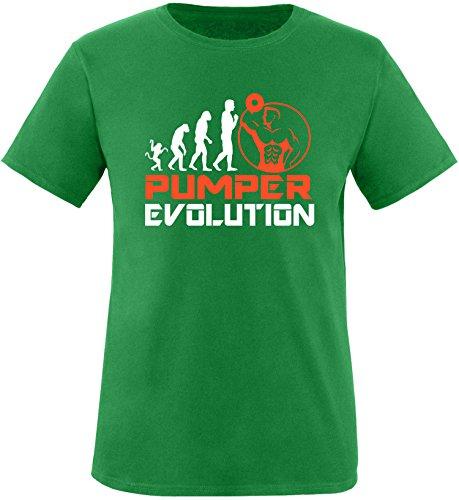 EZYshirt® Pumper Evolution Herren Rundhals T-Shirt Grün/Weiss/Orange
