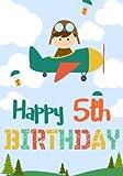 Happy 5th Birthday: Birthday Books For Boys, Birthday Journal Notebook For 5 Year Old For Journaling & Doodling, 7 x 10, (Birthday Keepsake Book)
