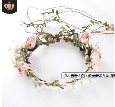 Shuda Blumenkranz mehrfarbig Blume Bohemia Style Kopfschmuck Haarbänder Stirnbänder Floral...