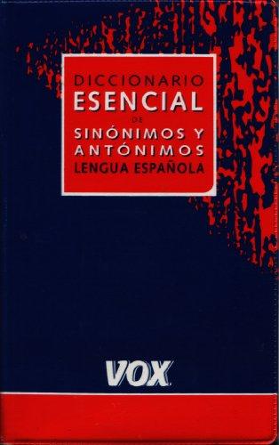 Dicc. Esencial Sinonimos Y Antonimos (Spes) por Collectif