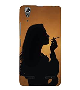 99Sublimation Girl Smoking 3D Hard Polycarbonate Back Case Cover for Lenovo A6000 +