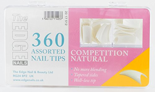 Le Bord concurrence ongles naturel – Lot de 360