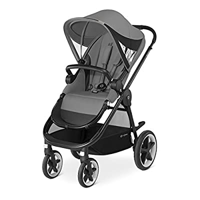 CYBEX Gold Balios M Pushchair, With Reversible Comfortable Seat and Baby Safety Bar, Manhattan Grey  Mamas & Papas
