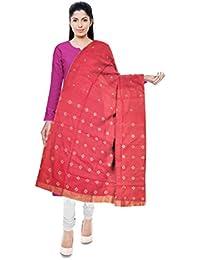 Mubarakpur Weaves 'Women's Cotton Silk Handloom Dupatta (Pink)