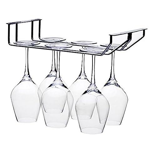 Verres à pied étagère 2rangs à fixation murale verre à vin Rack Cintre Barre Home Tasse Verre à champagne Verrerie support de table de cuisine salle à manger